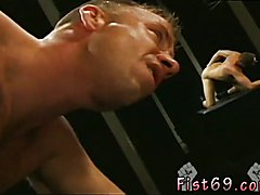 Black naked thugs fisting gay xxx Club Inferno's own Uber-bottom, Rick West opens the
