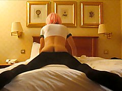 Crossdresser has anal fun at the hotel