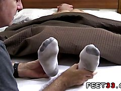 Gay white man dominates black foot slave Tommy Gets Worshiped In His Sleep