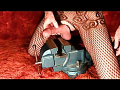 Sissy Cock and Ball Torture in a Vise