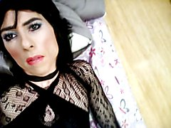 Sexy Crossdresser using Anal Toy