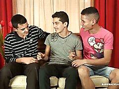 Latin Twink Bareback Gay Threesome