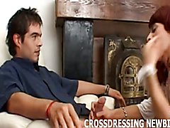 Crossdressing makes my cock diamond hard  scene 3