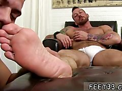 Hot movie to hairy men sucking them feet gay Hugh Hunter Worshiped Until He Cums