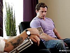 NextDoorBuddies Markie More Bends Over for Therapist