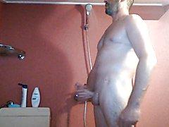 Handjob in shower