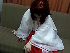 kigurumi cosplay playing herself