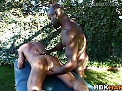 Black masseur barebacks
