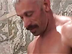 Daddy fucks twink in shower
