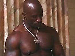 Black man massage and fuck