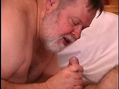 Amateur fatty bondage and oral