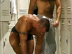 Hairy hotties locker room fuck