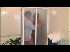 Shower suck and bathroom fuck