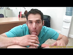 Sexy POV blowjob from brunette