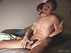 Handjob for Asian hottie
