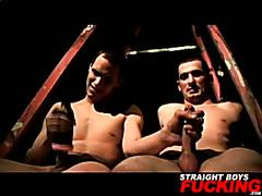 Straight guys try anal sex