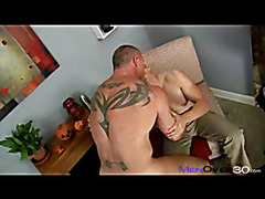 Amazing daddy stud fucks that ass