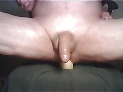 Full toy in his smooth ass