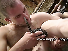 Little Aaron gets his butt hole streched