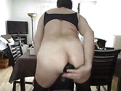 Sissy solo anal play