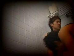 Gay Asian twink sex in bathroom