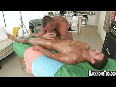 Young jock hammered by older guy